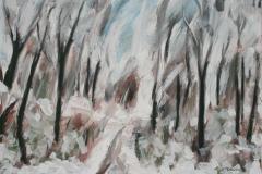 Winterwald, 2016, 50 x 70, Acryl auf Leinwand
