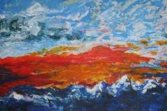 Aufbruch, 2009, 100 x 100, Acryl auf Leinwand