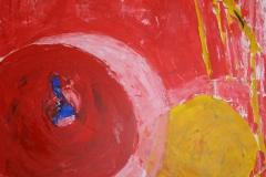Der wandernde Tisch, 2015, 100 x 100, Acryl auf Leinwand