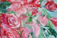 Rosen, 2016, 100 x 100, Acryl auf Leinwand