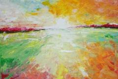Horizont, 2013, 100 x 100, Acryl auf Leinwand