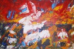 Heimkehr, 2013, 80 x 120, Acryl auf Leinwand