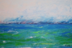 Das Meer grün-blau, 2016, 70 x 100, Acryl auf Leinwand