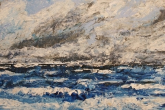 Dräuendes Meer 1, 2015, 69 x 147, Acryl auf Papier
